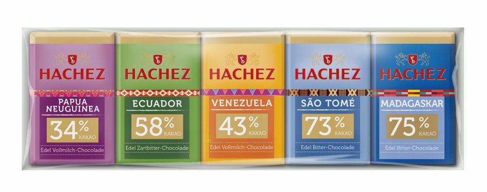 Minitahvlite mix Origin 75g Hachez
