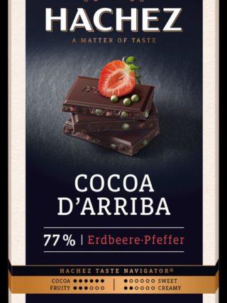 77% d'Arriba šokolaad maasika & rohelise pipraga 100g