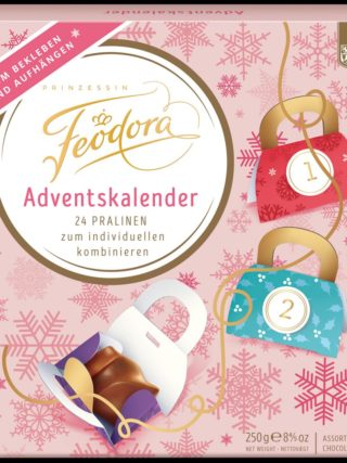 "Šokolaadivalikuga advendikalender ""Do it yourself"" 250g Feodora"