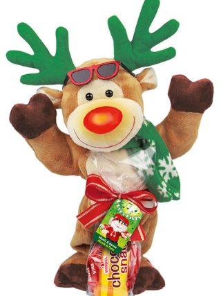 Tantsivad ja laulvad plüüsist jõulufiguurid kommikotiga 85g Windel