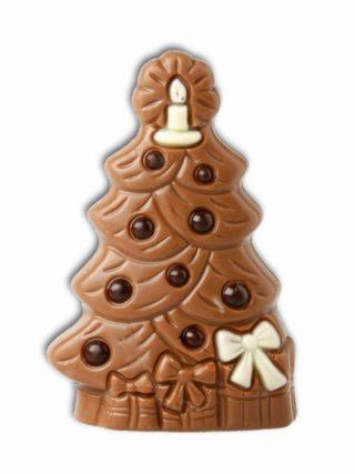Valgest ja piimašokolaadist jõulupuu 40g Klett