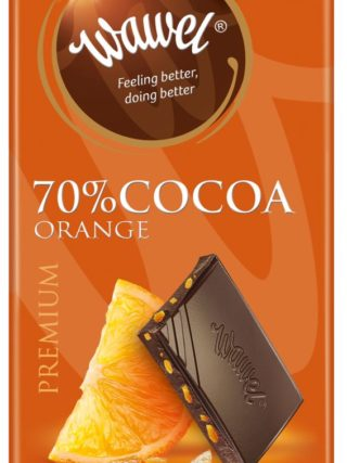 Tume šokolaad apelsiniga 100g, 70% kakaod