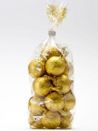 Kuldsed jõulukuulid pakis 200g Klett