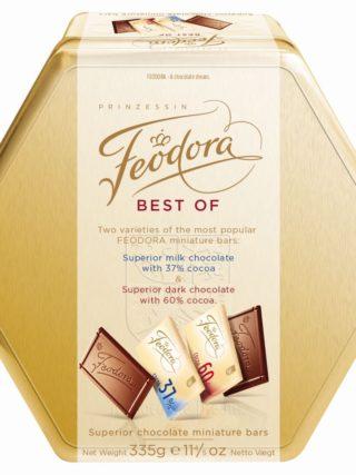 """Minišokolaadid metallkarbis """"Best of Feodora"""" 335g"""