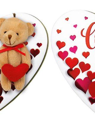 Karu ja südametega kommikarp 97g