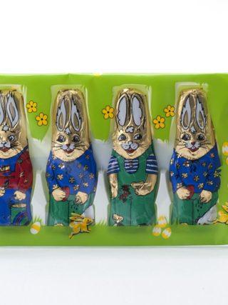 4 šokolaadist jänest pakis 50g Klett