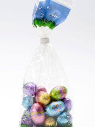 Šokolaadist lihavõttemunad kotis 125g Klett