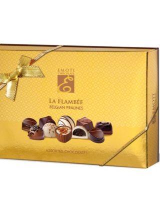 Emoti La Flambee šokolaadiassortii kuldses karbis 120g