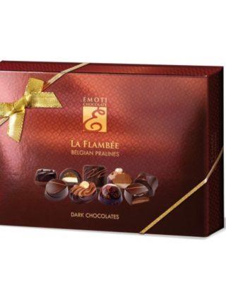 Emoti La Flambee tumeda šokolaadi assortii pruunis karbis 115g