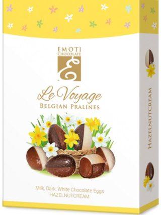 Emoti Le Voyage šokolaadimunad sarapuupähkli kreemi täidisega 100g