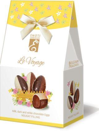 Emoti Le Voyage šokolaadimunad sarapuupähkli kreemi täidisega 65g