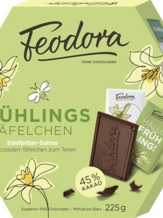 Kevadised tumedad minišokolaadid 225g Feodora